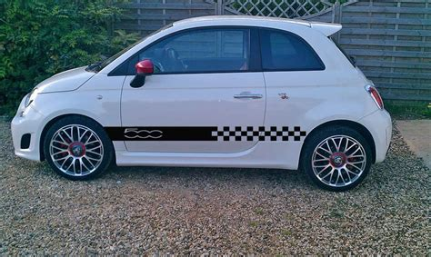 Fiat 500 Graphics by Fiat 500 500 L Side Racing Stripes Stickers Decals