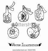 Bottles Potion Bottle Magic Potions Shaped Vector Illustration Containing Various Drawing Sketch Cartoons Games Shutterstock Preview Vectors Graphic sketch template