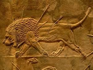 Assyrian Relief Sculpture Lion Hunt