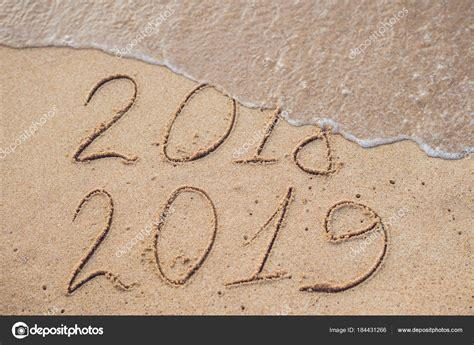 Nieuwjaar 2019 Komende Concept Inscriptie 2018 2019 Een