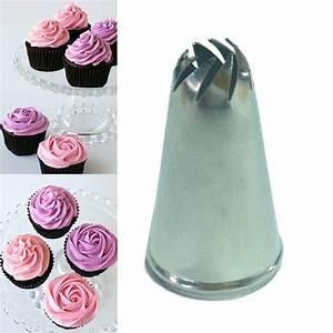 Stainless Steel Drop Flower Tips Cake Nozzle Cupcake Sugar