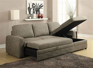 derwyn light brown linen sectional sofa pull out bed w With sectional sofa with a pull out bed