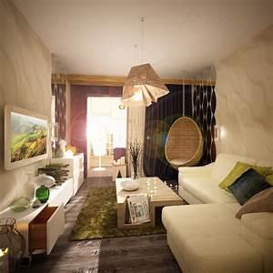 Hängesessel Fürs Zimmer : ideen f r das kleine wohnzimmer 30 inspirierende bilder ~ Orissabook.com Haus und Dekorationen