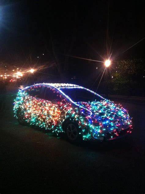 toyota prius decked   christmas lights toyota