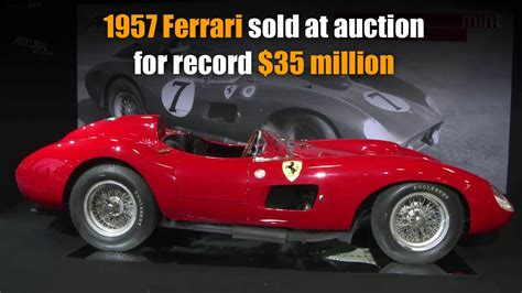 1957 Ferrari Sold At Auction For Record  Million