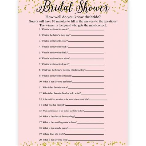 bbridal shower bingo cards  printable template