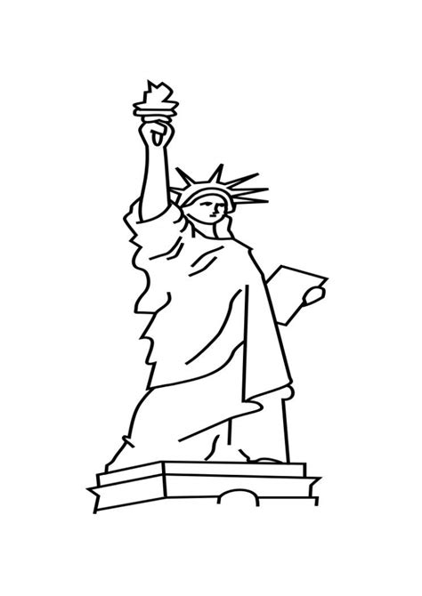 printable statue  liberty coloring pages  kids