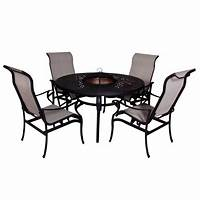 fire pit dining table Lorraine Dining Height Fire Pit Table and Chairs (5-piece ...