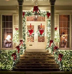 50, stunning, front, porch, christmas, lights, decorations, ideas, in, 2020