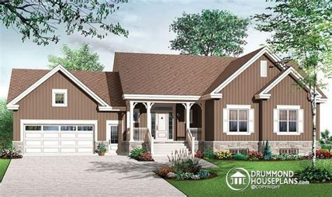 Split Level House Plans Attached Garage One Story