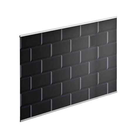 credence cuisine carrelage metro crédence verre carrelage métro noir h 45 cm x l 80 cm
