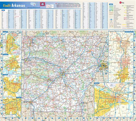 detailed roads  highways map  arkansas state