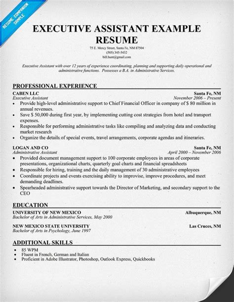 Executive Administrative Assistant Resume by Best 25 Executive Administrative Assistant Ideas On