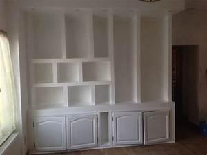 apres mise en peinture les etapes de la construction With bibliotheque en carreau de platre