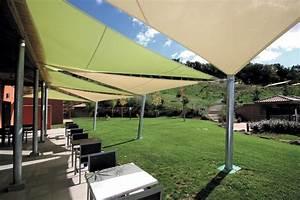 Voile D Ombrage Sur Mesure Avec Oeillets : toile protection solaire terrasse protection solaire 55 ~ Melissatoandfro.com Idées de Décoration