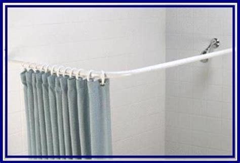 lshaped corner shower rail rod white or chrome