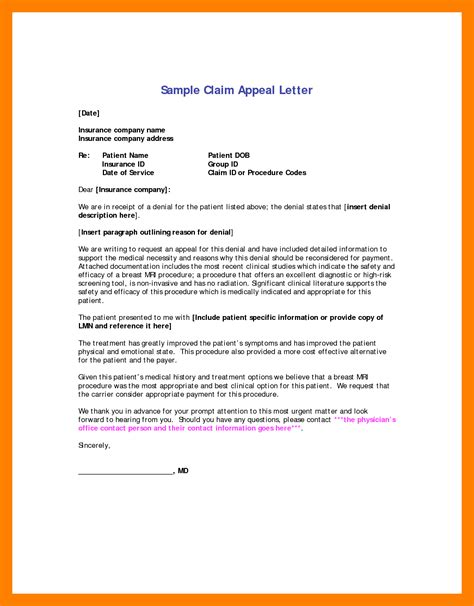sample letter  appeal  reconsideration appeal letter