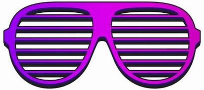 Glasses Cool Shades Clipart Shutter Purple Transparent