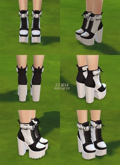 sims marigold chunky sneakers heels sims  downloads