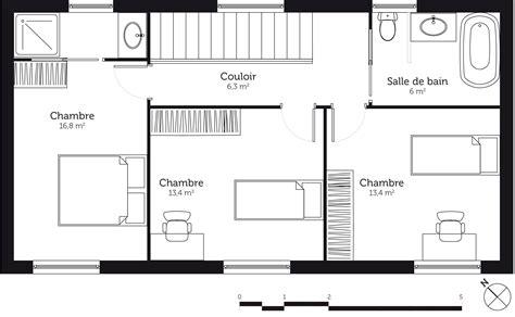 plan maison etage 4 chambres plan maison à étage 110 m avec 3 chambres ooreka