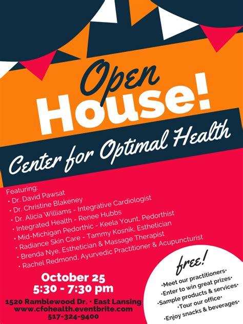 event cfoh open house  center  optimal health