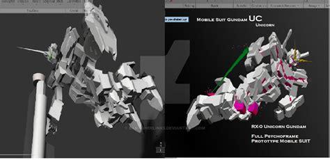 Default And Destroy Mode Unicorn Gundam By Banagherlinks