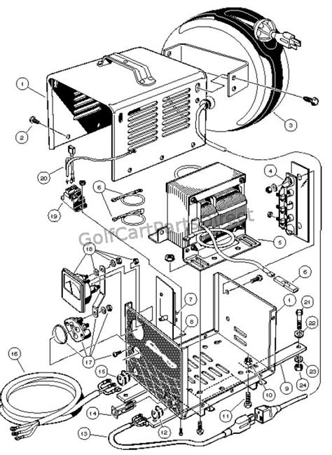 Battery Charger Model 22110 Club Car 48v Wiring Diagram by On Board Powerdrive Battery Charger Domestic Carryall 6