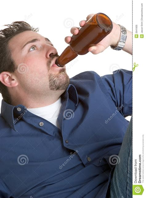 Man Drinking Beer Royalty Free Stock Photo  Image 2641935
