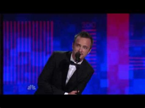 aaron paul wins emmy 2010 aaron paul s 1st emmy win 2010 youtube
