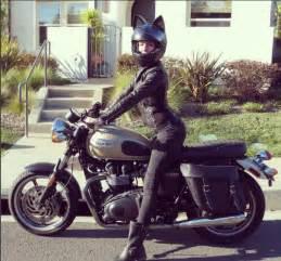 cat on motorcycle cat ear motorcycle helmets