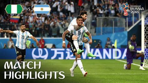 Nigeria Argentina Fifa World Cup Russia Match