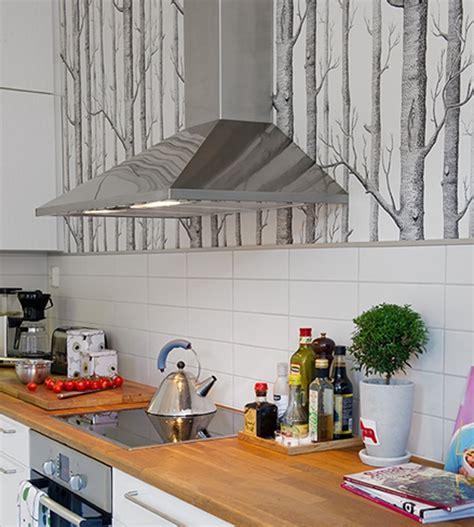 papier peint vinyle cuisine cuisine où poser papier peint pour un maximum d