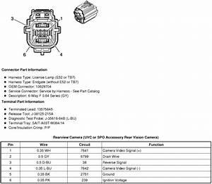 Need Wire Diagram For 2011 Escalade Backup Camera Plug