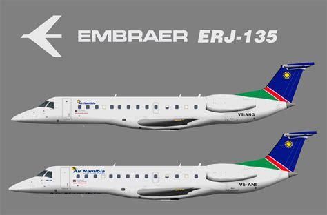 air namibia erj 135 juergen 39 s paint hangar
