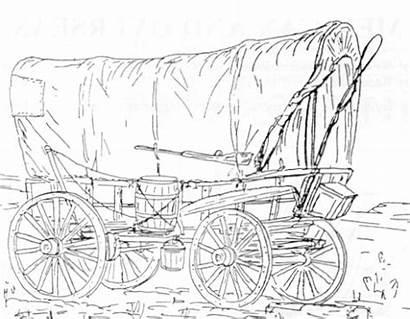 Wagon Coloring Covered Trail Oregon Horse Conestoga