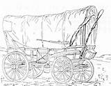 Wagon Coloring Trail Oregon Horse Covered Drawing Conestoga Pages Sketch Prairie Drawn Plans Printable Pioneer Thompson Schooner Carriage Wagons Clipart sketch template