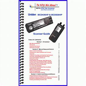 Instruction Manual For The Uniden Bcd436 And Bcd536