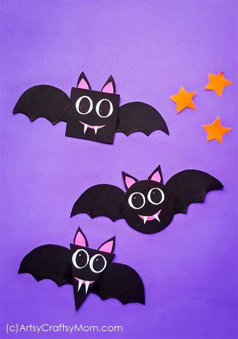 shape bats halloween paper craft  preschoolersfree