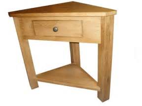 oak corner console table ebay - Oak Livingroom Furniture