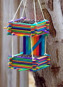We Love These Popsicle Stick Bird Feeders