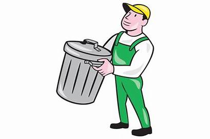Garbage Collector Clipart Bin Trash Carrying Clip