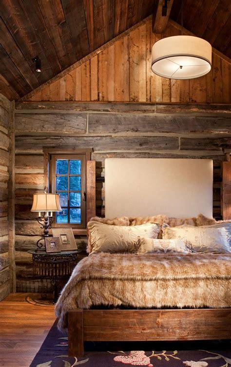 chambre rustique l esprit montagne reflété dans une chambre rustique