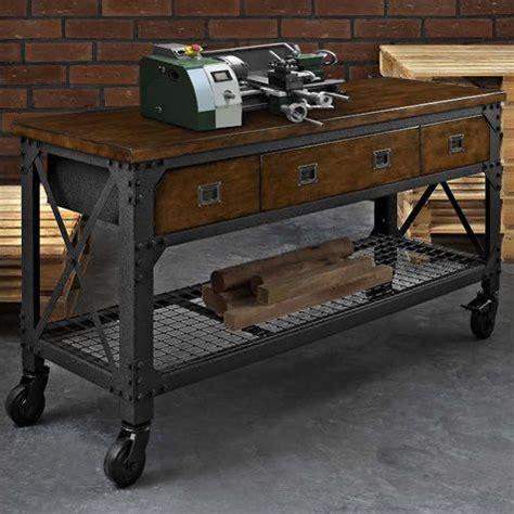 whalen industrial metal  wood workbench costco uk