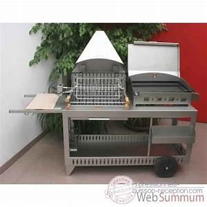 Barbecue Gaz Grill Et Plancha : plancha et barbecue gaz sur chariot sur professionnels cuisson reception ~ Preciouscoupons.com Idées de Décoration