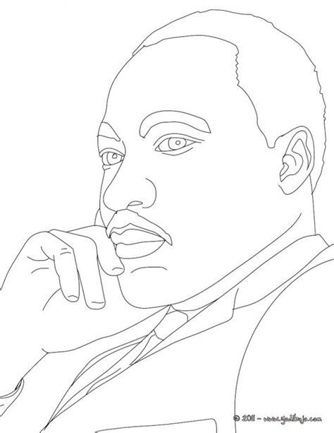 dibujos de martin luther king  imprimir  pintar
