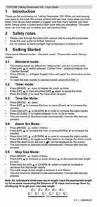 Topcom Talking Pedometer 100 User Manual