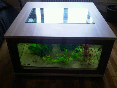 table basse aquarium