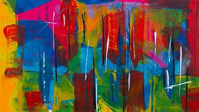 Abstract Paint Colorful Modern Painting Background Spots