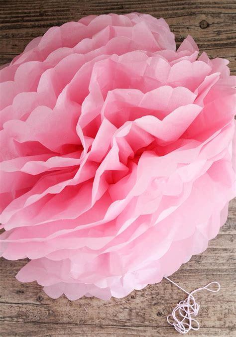 Tissue Paper Pom Pom Tutorial Somewhat Simple
