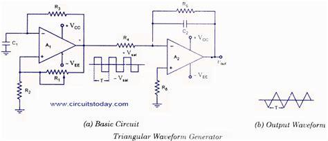 triangular wave generator  opamp circuit diagram